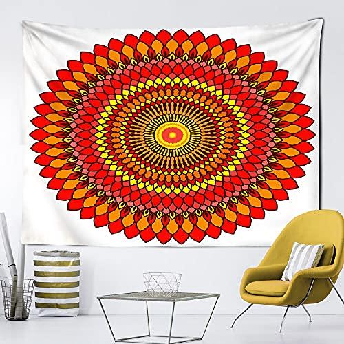 Tapiz de mandala indio estilo hippie boho decoración del hogar sala de estar dormitorio fondo de pared manta para colgar en la pared A4 130x150cm