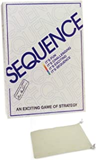 Sequence Board Game Bundle with Drawstring Bag