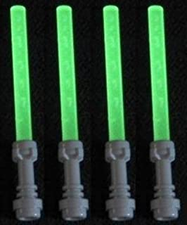 Lego Lightsaber Lot of 4: Glow-in-the-Dark Lightsabers with Hilts