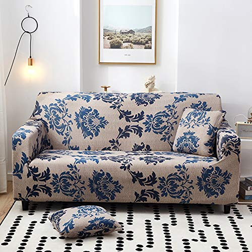QWEASDZX Fashionable Sofa Cover, Stretchable Elastic Sofa Cover, Suitable For Long Sofa In Living Room, Furniture Protection Cover 4 Seater(235-300cm)