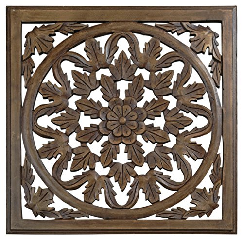 12' Brown Solaris Six Wooden Wall Panel