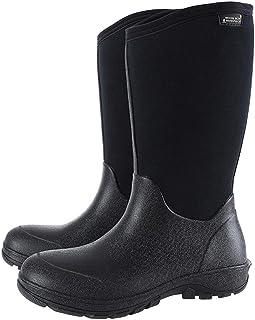 KWNOEA Men's Waterproof Insulated Rubber Neoprene Outdoor Boots,Winter Warm Snow Boots