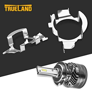 H7 LED Bulb Adapter H7 Retainers Holders Socket Base for VW Jetta Mercedes-Benz Audi BMW X5 E85 Buick Hyundai Nissan Ford Fusion Chrysler Pacifica 2 Pack