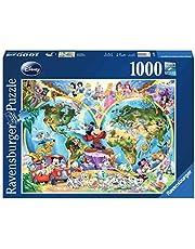 Disney's Weltkarte. Puzzle 1000 Teile