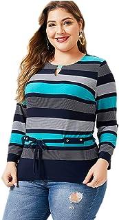 Women's T Shirt,Women's Striped T Shirt Shirt Women's Oversized Shirt Women's Round Neck Shirt Casual And Comfortable Women's Tops