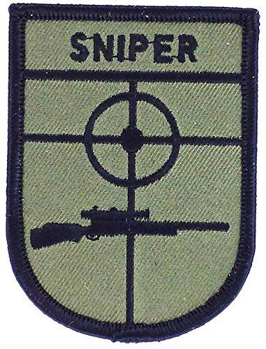 Akachafactory Gesticktes-Aufnäher Patch Softair Sniper us Marines Army zum Aufbügeln