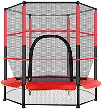Wooper 4.5 ft. Trampoline for Kids with Safety Enclosure Net