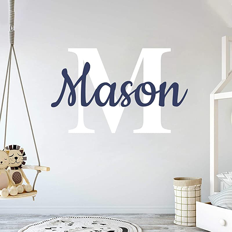 Custom Name Initial Prime Series Baby Boy Girl Unisex Wall Decal Nursery For Home Bedroom Children Wide 30 X 20 Height