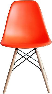 ABCインテリア イームズチェアー PC-016 DSW オレンジ リプロダクト品 木製脚 サイドシェルチェア ドゥエルレッグ Eames デザイナーズ 北欧 イームズ チェアー イームズチェアー ミッドセンチュリー