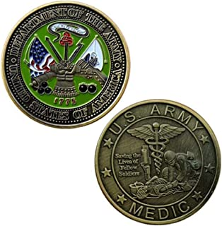 United States Army Medic Challenge Coin with Prayer, Unreal 3D US Army Military Coin, Commemorative Coin.