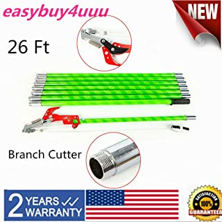 26 Foot Length Tree Pole Pruner Tree Saw Pruning Tree Branch Pole Saw New 26 Ft Pole Saw Adapter Garden Lawn Yard