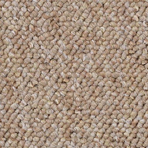 Teppichboden Auslegware Meterware Schlinge beige hell 400 und 500 cm breit, verschiedene Längen
