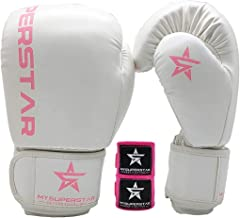 MYSUPERSTAR Guantes de Boxeo Pro para Entrenamiento, Boxeo
