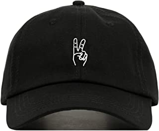 Peace Out Sign Hand Baseball Hat, Embroidered Dad Cap, Unstructured Soft Cotton, Adjustable Strap Back (Multiple Colors)