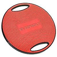 EVERYMILE バランスボード 体幹トレーニング 滑り止め 運動不足 直径42cm コアマッスル 持ち運びやすい ダイエット 運動 リハビリ ケガ予防 (レッド)