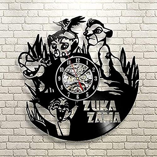 trono de leon Reloj de Pared de Vinilo Regalo Original para el...