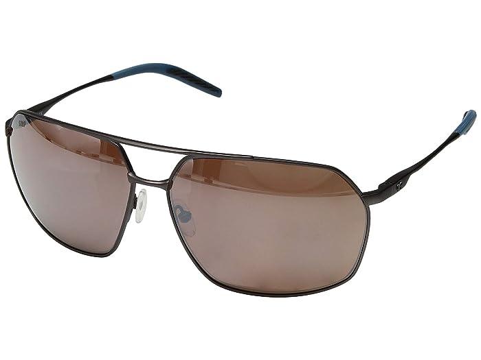 Costa  Pilothouse (Matte Dark Gunmetal/Deep Blue/Black/Copper Silver Mirror 580P) Athletic Performance Sport Sunglasses