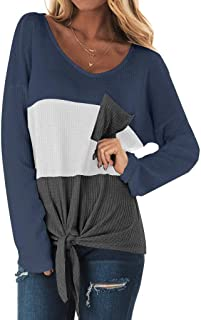 Sweaters for Women Plus Size Round Neck Color Block Knitting Long Sleeve Tops Loose Oversized Pullover Sweater Jumper