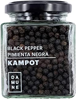 Pimienta Negra de Kampot Premium en grano - 120g - Nueva