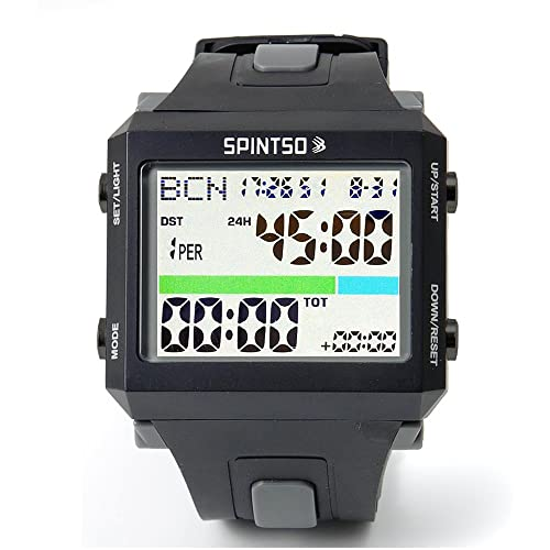 2017 SPINTSO Soccer Referee Watch (Black/Grey) (+FREE Referee Coin)