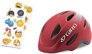 Nortwill Giro Bike Helmet Set - Giro Scamp Youth Bike Helmet, Giro Kids Bike Helmet, Toddler Helmet - with Cute Emoji Waterproof Stickers