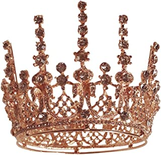 RKY Ragazze Corona, Corona Fascia Gold Crown Copricapo Accessori di Cristallo for Bambini, Adatto for i Bambini dai 3 Anni...