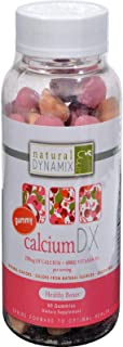 Natural Dynamix Calcium DX Vitamin D , Chewable Cuties 60 Count Great Taste Gluten Free Preservative Free Natural Color So...