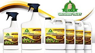 Growers Trust Spore Control Non-Toxic, Biodegradable - Natural Fungicide -Treatment (Solution Makes 32oz Ready to use Foliar Spray)