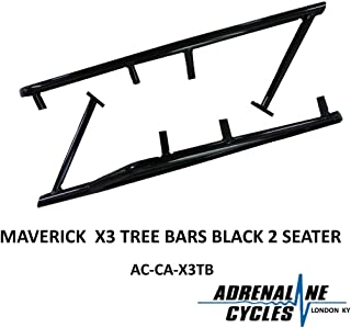 Can Am Maverick X3 tree bar rock slider guards sliders BLACK NEW #AC-CA-X3TB