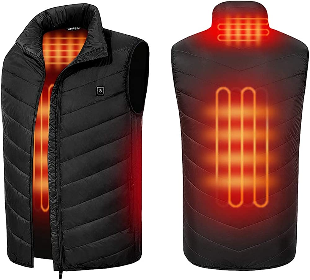 2019 Upgrade Heated Vest Windproof Heating Down Jacket Coat (WITHOUT POWER BANK)