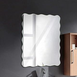 Art Street Frameless Beveled Rectangular Ridge Wall Mirror, Modern Frameless Mirror for Bathroom, Bedroom, Living Room Han...
