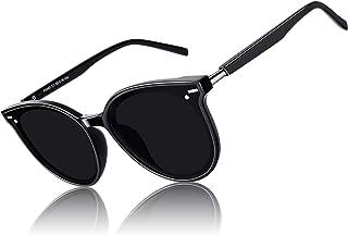 CGID Lunettes de Soleil Femme Polarisées Surdimensionnées Designer Protection UV400 MJ85