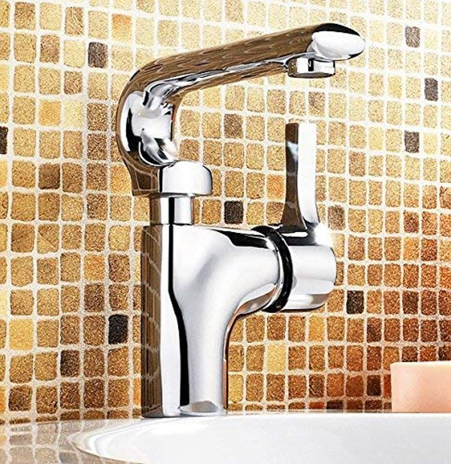 Oudan Sink Taps Basin copper chrome Hot and cold