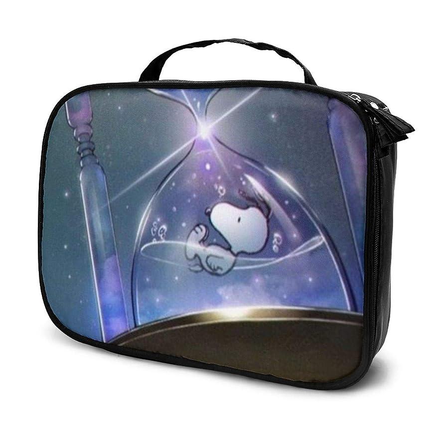 忌まわしい初期スプーンDaituスヌーピーの時間 化粧品袋の女性旅行バッグ収納大容量防水アクセサリー旅行