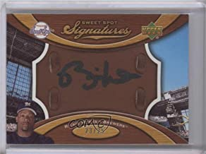 Rickie Weeks #23/25 (Baseball Card) 2007 Sweet Spot - Signatures Glove Leather - Brown Black Ink #SS-RW