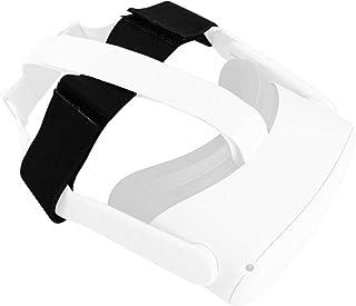 NEWZEROL Stretchbälte kompatibelt med VR Oculus Quest/Quest 2 pannband huvudrem pannband för VR-headset – svart