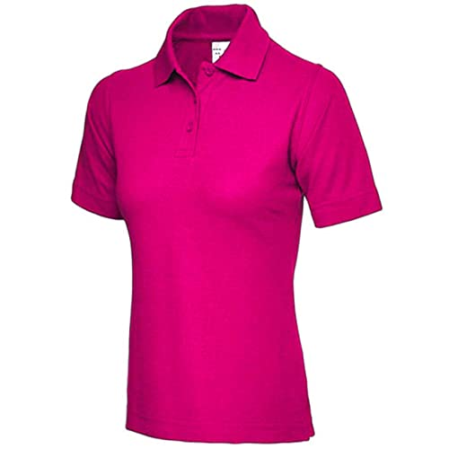 1c2116950 Ladies Pique Polo Shirt Size UK 8 to 26 Plus All Colours NEW Casual Sports  Gym