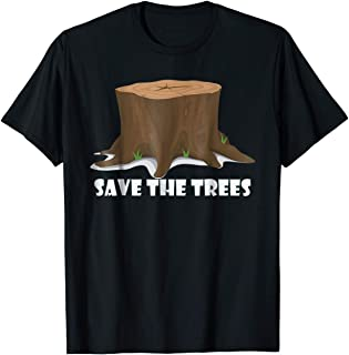 TIANLANGHB Save The Trees Tree Hugger Shirt Earth Day Environment Shirt