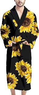 Coloranimal Aqua Hibiscus - Accappatoio da uomo con stampa floreale