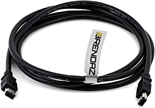 BRENDAZ Firewire DV Cable 6P - 6P (IEEE-1394) for Canon XH-A1s HDV, XL H1S, XL H1A, XL-H1, XH-G1 Camcorder, 6-Feet