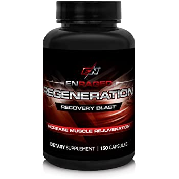 ENRAGED NUTRITION REGENERATION Muscle Rejuvenation Deep Recovery Blast: BCAA Supplement | Muscle Support | Sports Nutrition, 150 Capsules
