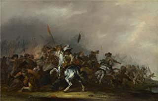 Oil Painting 'Jacob Weier Cavalry Attacked By Infantry', 16 x 25 inch / 41 x 64 cm , on High Definition HD canvas prints is for Gifts And Foyer, Gym And Nursery Decoration, quick