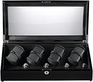 Automatic Watch Winder 8+8 Storage Boxes for 16 Watches with LED Light