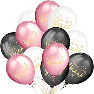 LeeSky Bachelorette Party Decorations,50Pcs She Said Yaaas Balloons -Bachelorette,Bridal Shower,Engagement,Wedding Party Decorations