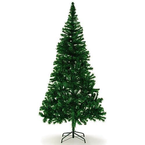 Deuba Sapin de Noël Arbre artificiel Vert 180 cm avec 533 branches pied - support stable Décoration fêtes de fin d'année