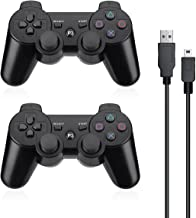Powerextra PS3 Controller 2 Pack Wireless Dual Shock High Performance Gaming Controller with Upgraded Joystick for Playsta... photo
