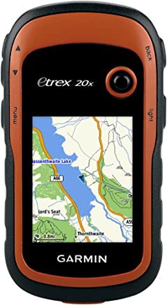 "Garmin eTrex 20x GPS Portatile, Schermo 2.2"", Mappa TopoActive Europa Occidentale, Arancio/Nero"