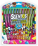 Scentos Scented Fine Line Markers - 24 Count - Washable