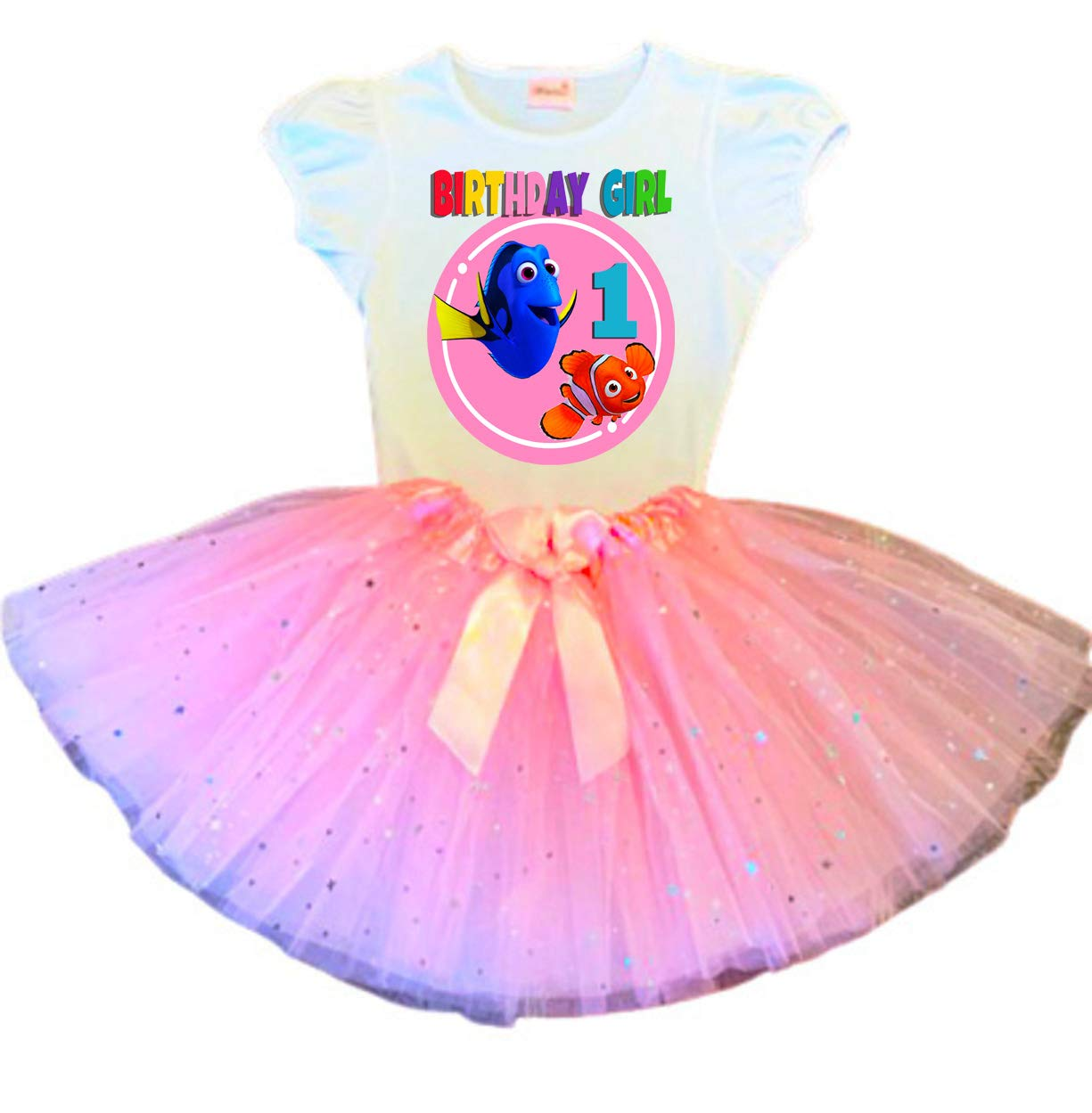 New Free Shipping Dory and Nemo Birthday Max 74% OFF Tutu Pink 1st O Party Dress
