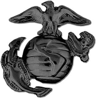 دبوس أو دبوس قبعة صغير من مشاة البحرية الأمريكية أو مجسم الكرة الأرضية أو دبوس القبعة (يسار ، أسود اللمسة النهائية)